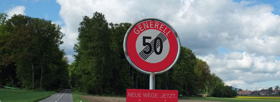 Blog 50er Schild